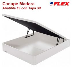 Canapé Abatible Madera 19 Flex color blanco