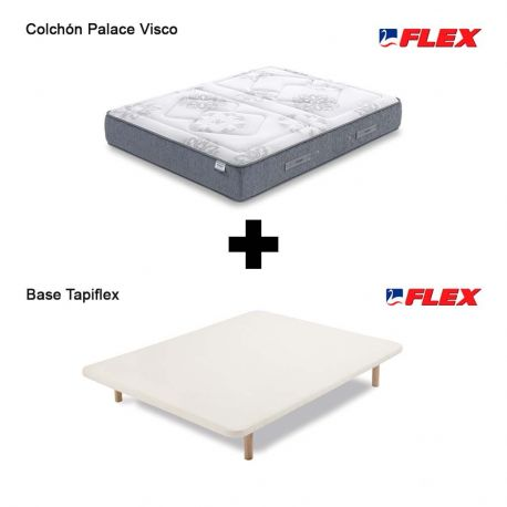 Pack Ahorro colchón Palace Visco Flex + base tapizada Tapiflex