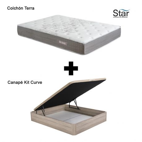 Pack colchón Terra Star + canapé Kit Curve Star
