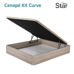 Comprar canapé abatible madera Star Kit Curve color Cambrian