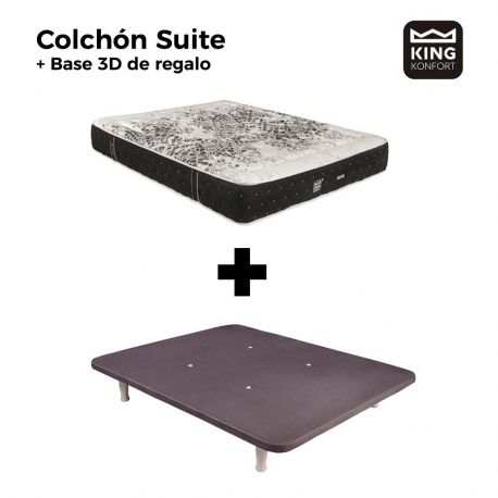 Colchón Suite + Base 3D King Konfort de regalo